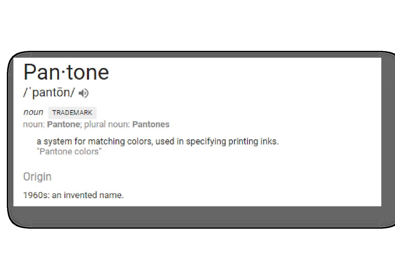 Pantone definition